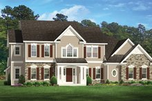 House Plan Design - Colonial Exterior - Front Elevation Plan #1010-171