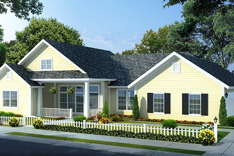 Traditional Exterior - Front Elevation Plan #513-2142 - Houseplans.com