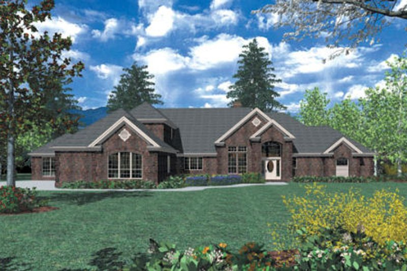 Southern Exterior - Front Elevation Plan #48-352