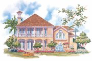 Mediterranean Style House Plan - 3 Beds 2.5 Baths 2909 Sq/Ft Plan #930-70 Exterior - Rear Elevation