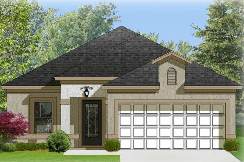 House Design - Adobe / Southwestern Exterior - Front Elevation Plan #1058-94