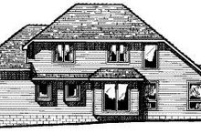Home Plan - Traditional Exterior - Rear Elevation Plan #20-717