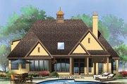 European Style House Plan - 3 Beds 3 Baths 1715 Sq/Ft Plan #929-957 Exterior - Rear Elevation