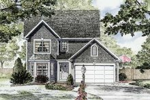 House Plan Design - Colonial Exterior - Front Elevation Plan #316-252