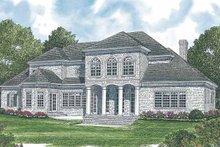 Colonial Exterior - Rear Elevation Plan #453-591