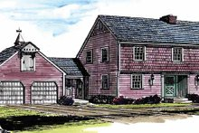 House Plan Design - Colonial Exterior - Front Elevation Plan #315-115