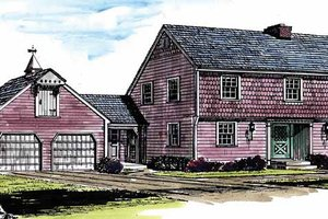 Home Plan - Colonial Exterior - Front Elevation Plan #315-115