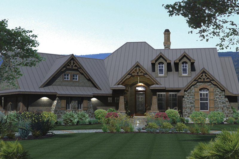 Architectural House Design - Country Exterior - Front Elevation Plan #120-243