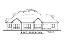 Architectural House Design - European Exterior - Rear Elevation Plan #20-2451
