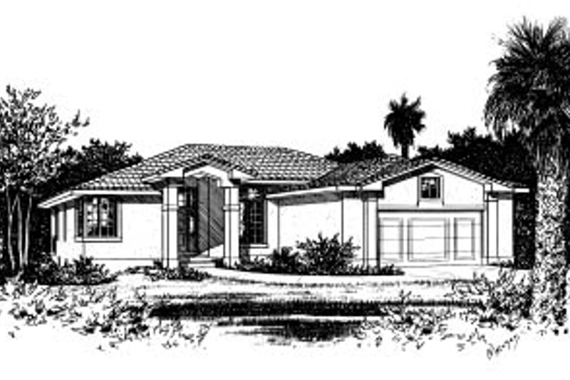 Mediterranean Exterior - Front Elevation Plan #20-609