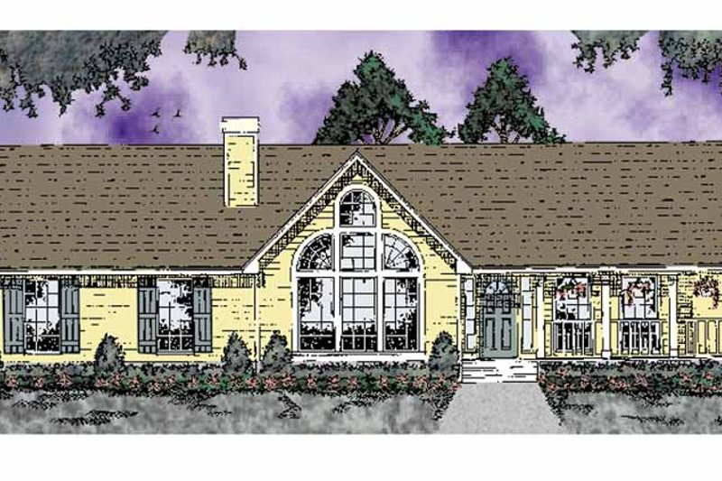 Home Plan - Country Exterior - Front Elevation Plan #42-574