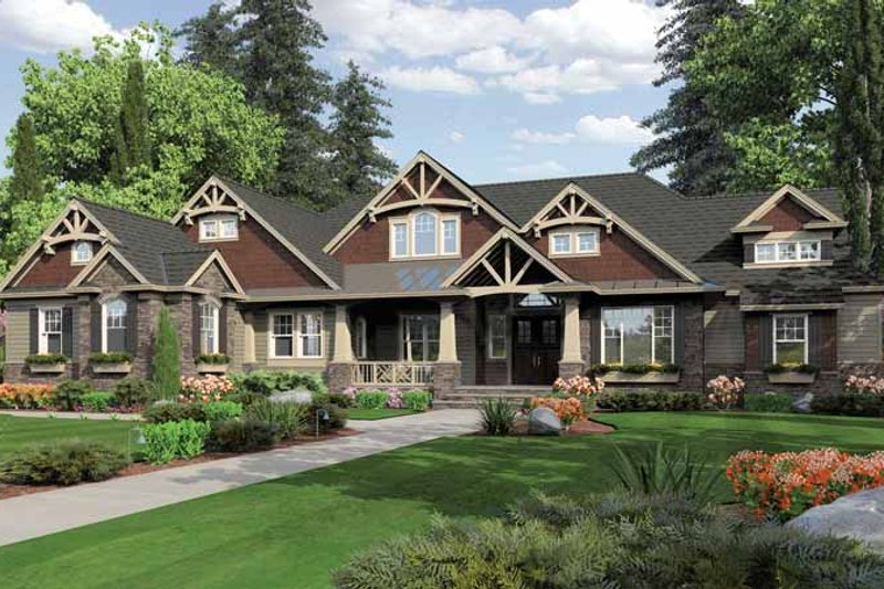 Traditional Exterior - Front Elevation Plan #132-550 - Houseplans.com