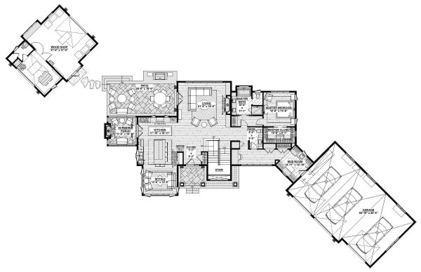 Craftsman Floor Plan - Main Floor Plan Plan #928-335