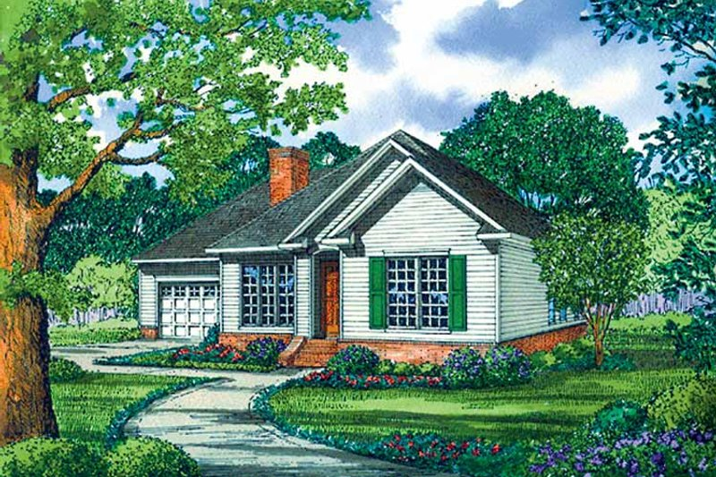 Ranch Exterior - Front Elevation Plan #17-3219