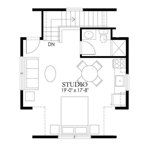 Craftsman Floor Plan - Upper Floor Plan Plan #1029-66
