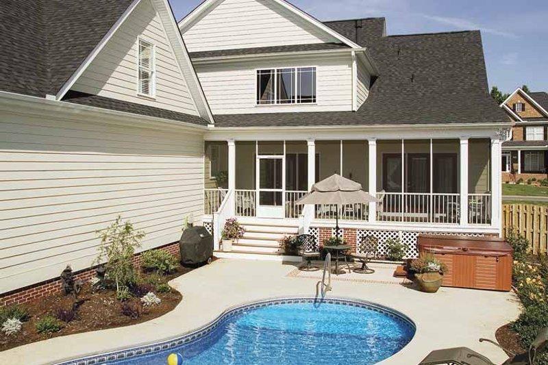 Country Exterior - Rear Elevation Plan #929-502 - Houseplans.com