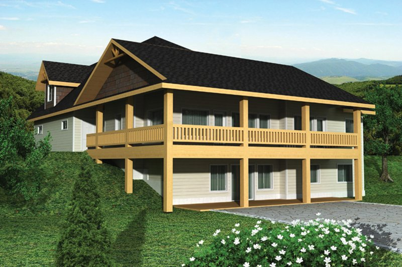 Craftsman Exterior - Rear Elevation Plan #117-859