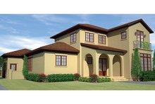 Dream House Plan - Mediterranean Exterior - Front Elevation Plan #991-27