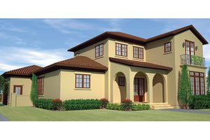 Mediterranean Exterior - Front Elevation Plan #991-27