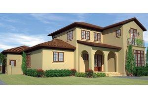 House Plan Design - Mediterranean Exterior - Front Elevation Plan #991-27