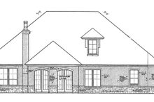 Architectural House Design - European Exterior - Rear Elevation Plan #310-1266