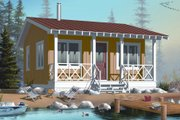Cottage Style House Plan - 1 Beds 1 Baths 400 Sq/Ft Plan #23-2289