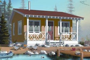 Cottage Exterior - Front Elevation Plan #23-2289
