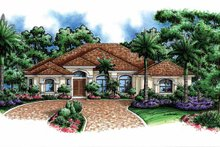 Architectural House Design - Mediterranean Exterior - Front Elevation Plan #1017-122