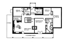 Colonial Floor Plan - Main Floor Plan Plan #117-845