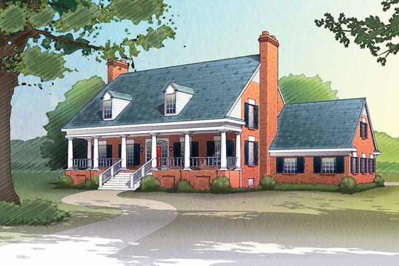 Classical Exterior - Front Elevation Plan #72-692 - Houseplans.com