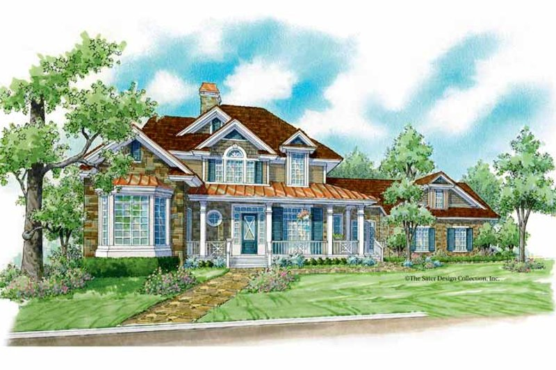 Country Exterior - Front Elevation Plan #930-196