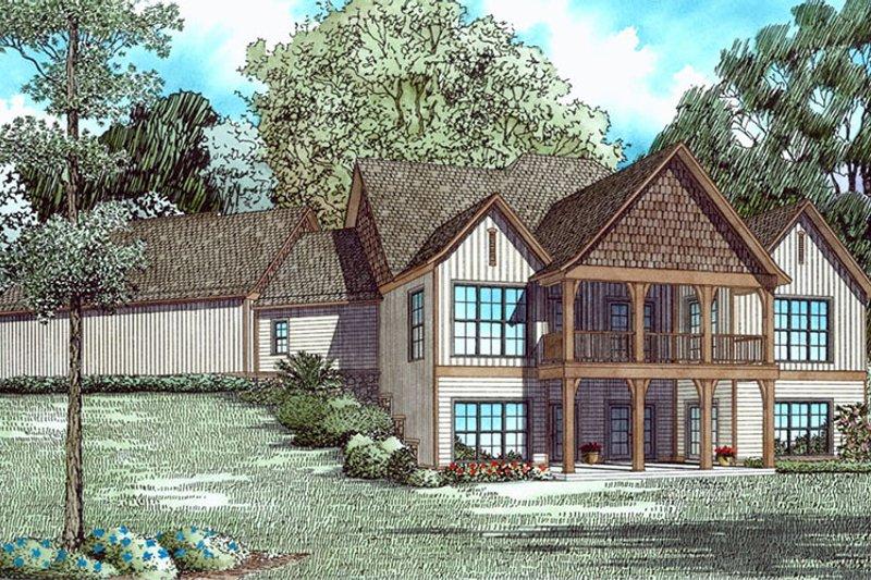 Ranch Exterior - Rear Elevation Plan #17-3404 - Houseplans.com