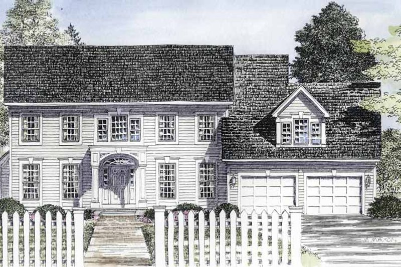Classical Exterior - Front Elevation Plan #316-190