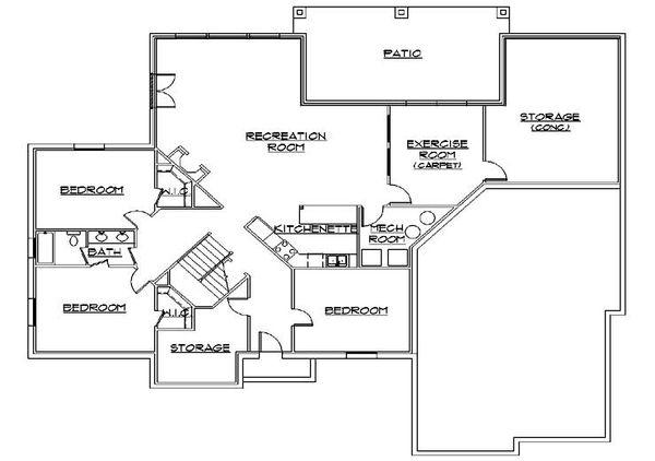 House Plan Design - Traditional Floor Plan - Lower Floor Plan #5-324