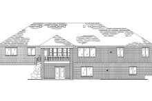 Home Plan - Traditional Exterior - Rear Elevation Plan #5-267