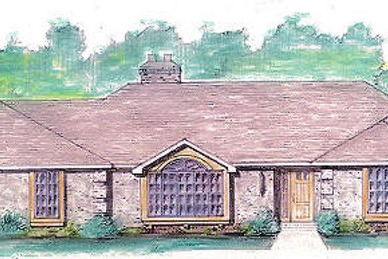 Colonial Exterior - Front Elevation Plan #421-119