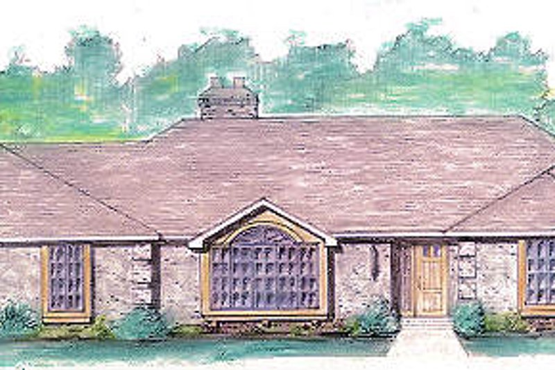 Colonial Style House Plan - 3 Beds 2.5 Baths 2100 Sq/Ft Plan #421-119 Exterior - Front Elevation
