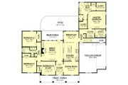 European Style House Plan - 4 Beds 2 Baths 2396 Sq/Ft Plan #430-153 Floor Plan - Main Floor Plan
