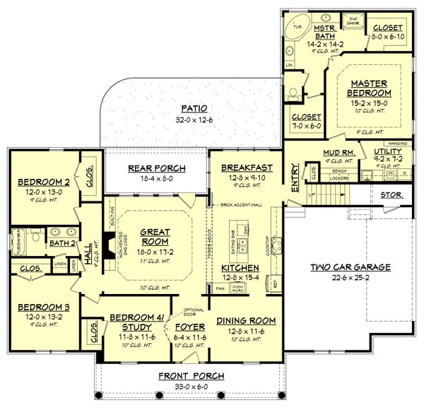 European Floor Plan - Main Floor Plan Plan #430-153