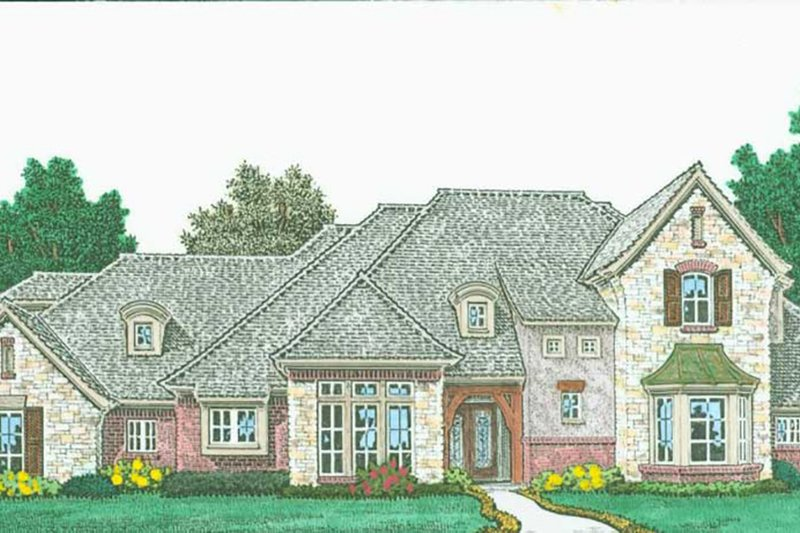 Country Exterior - Front Elevation Plan #310-1318