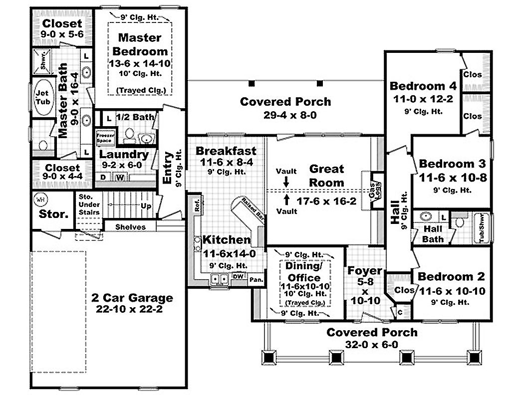 Traditional Style House Plan - 4 Beds 2.5 Baths 2100 Sq/Ft Plan #21 on 2400 sq ft home plans, 4500 sq ft home plans, 3800 sq ft home plans, 900 sq ft home plans, 3500 sq ft home plans, 2800 sq ft home plans, 2600 sq ft home plans, 4000 sq ft home plans, 800 sq ft home plans, 1100 sq ft home plans, 5000 sq ft home plans, 1750 sq ft home plans, 1700 sq ft home plans, 3000 sq ft home plans, 2300 sq ft home plans,