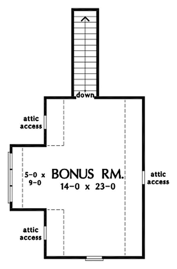 House Plan Design - Ranch Floor Plan - Upper Floor Plan #929-1085