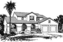 House Plan Design - Mediterranean Exterior - Front Elevation Plan #20-715