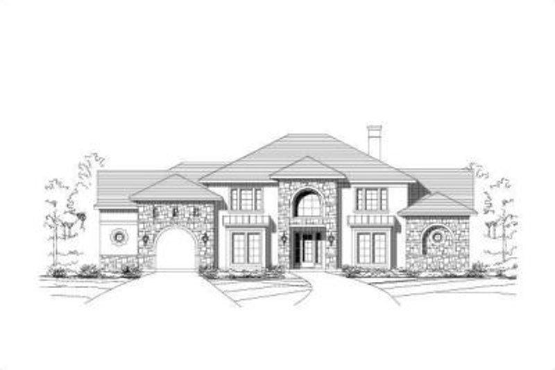 European Style House Plan - 4 Beds 3 Baths 4432 Sq/Ft Plan #411-211