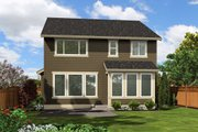 Traditional Style House Plan - 4 Beds 2.5 Baths 1910 Sq/Ft Plan #132-223 Exterior - Rear Elevation