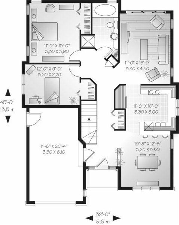 Cottage Floor Plan - Main Floor Plan Plan #23-697