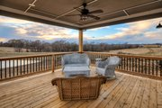 Ranch Style House Plan - 3 Beds 2 Baths 2005 Sq/Ft Plan #70-1485 Exterior - Covered Porch