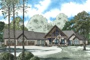 Craftsman Style House Plan - 3 Beds 4 Baths 6636 Sq/Ft Plan #17-2500 Exterior - Front Elevation