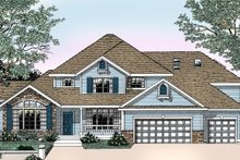 House Design - Traditional Exterior - Front Elevation Plan #98-213