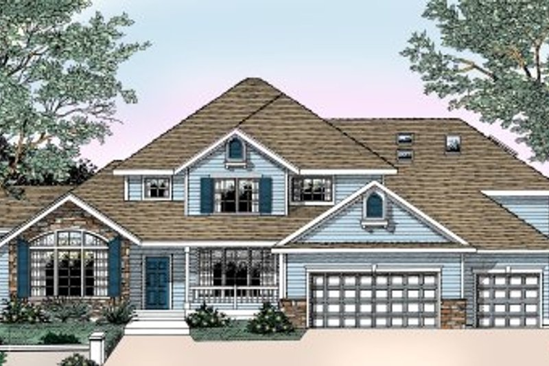 Traditional Exterior - Front Elevation Plan #98-213